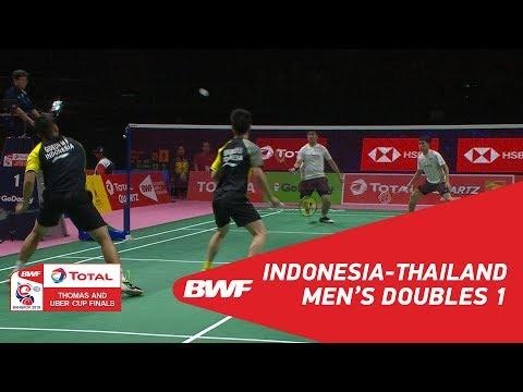 Thomas Cup | MD1 | GIDEON/SUKAMULJO (INA) vs NAMDASH/PHUANGPHUAPET (THA) | BWF 2018