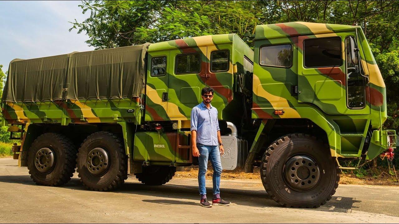 Ashok Leyland FAT 6x6 : An All-Terrain Military Truck - Review Video
