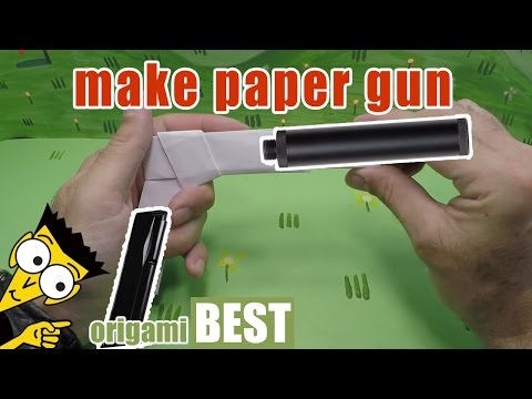 How to make a paper gun origami - Origami BEST #origami