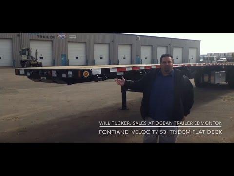 Fontaine Velocity 53' Tridem Flat Deck at Ocean Trailer Edmonton