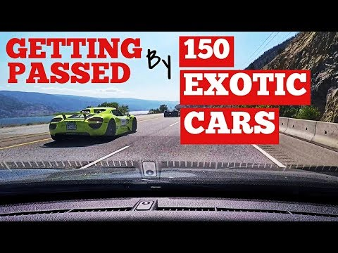 Getting Passed by 150 Exotic Supercars