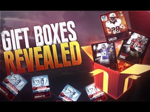 All Gift Boxes Revealed! Madden Mobile 16 - YouTube