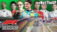 Formel 1 LIVE gegen echte F1 Rennfahrer | F1 2019 Event | #NotTheGP