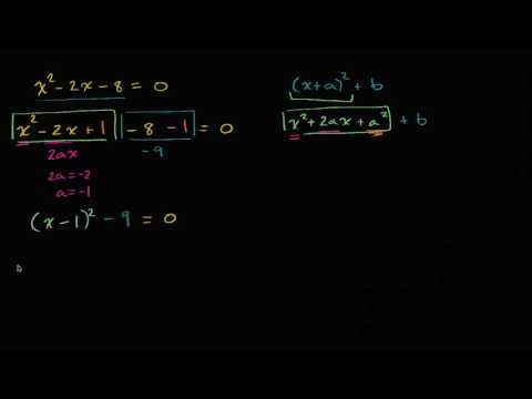 Worked example: Solving equations by completing the square | High School Math | Khan Academy
