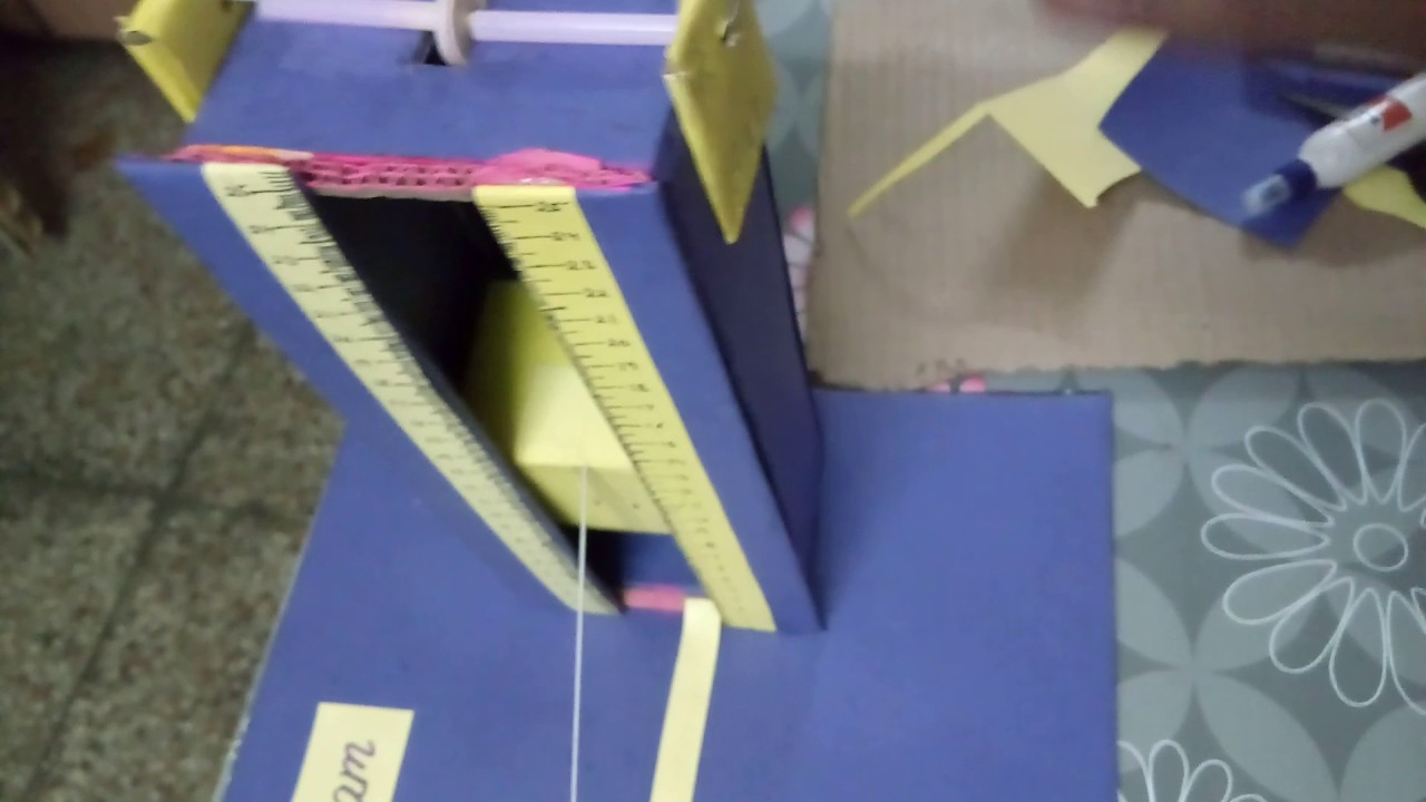 Maths model on Pythagoras theorem ,trigonometry and sum of interior angles  of triangle