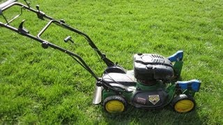John Deere JS63C Lawn Mower - Free Craigslist Find & Startup! - Part I - March 29, 2013