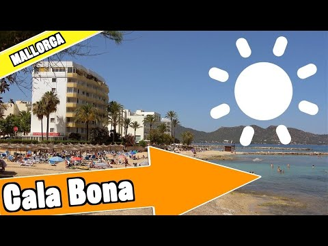 Cala Bona Mallorca Spain: Tour Of Beach And Resort