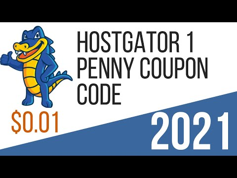 Hostgator 1 Penny Coupon Code 2018 | 1 Cent Coupon Discount Code