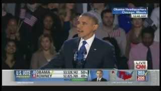 President Obama Re-Election Victory Speech (November 6, 2012) [1/3]