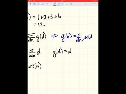 Mobius Inversion Formula EXAMPLE (tutorial 3, question 3)