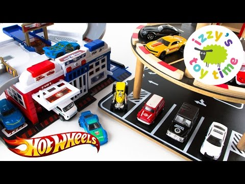 Cars for Kids   Hot Wheels and Fast Lane Parking Garage Madness   Fun Toy Cars for Kids