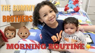 CJ AND LEGEND'S MORNING ROUTINE!!