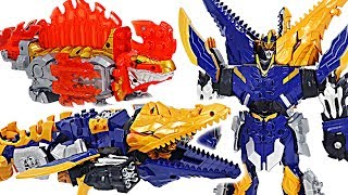 Power Rangers Knight Dragon Sentai DX 07 Kishiryuzin! Dinosaur transform & combine! | DuDuPopTOY