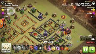 Clash Of Clans - Ataque cv10 vs cv10 contra clã de guerra!! (Clã: Os Tratorzinho)