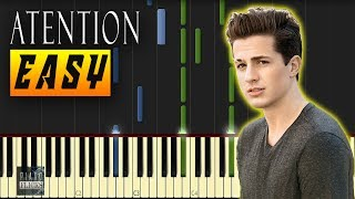 ATTENTION Charlie Puth - Attention Easy Piano Tutorial    pianoflicks   