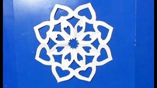 Как Вырезать Простую Снежинку из Бумаги своими руками. Новогодние поделки снежинки на Новый год DIY