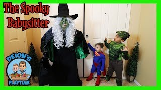 THE SPOOKY BABYSITTER | DEION'S PLAYTIME