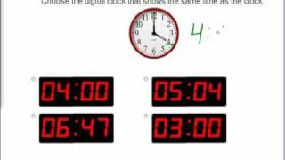 Mathabc.com: Time: Which Digital Clock Matches The Analog Clock?