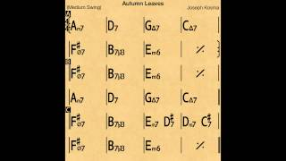 Autumn Leaves Slow Backing Track Play Along