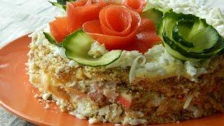 Как приготовить салат с крабовыми палочками снежная королева видео рецепт