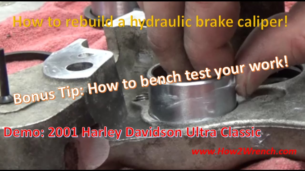How To Rebuild A Brake Caliper Demo Rear Harley Davidson 44315 00a Wiring Schematic Of 1973 1974 Fl Flh 44313 00 01a Kits