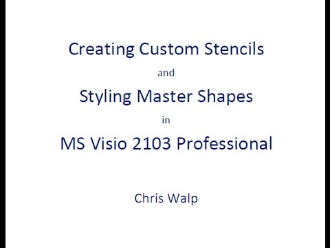 Creating Custom Stencils And Editing The Master Shapes In Visio 2013 Professional