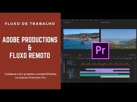 Adicionando projeto do Adobe Premiere editado remotamente ao Productions