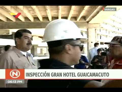Presidente Maduro visita obras en Hotel Guaicamacuto, estado Vargas