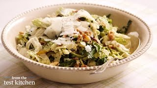 Raw Swiss Chard, Cabbage, And Brussels Sprout Salad - From The Test Kitchen