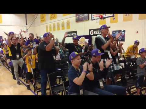 Lakers fans react to Lonzo Ball selected No. 2 at draft party in El Segundo