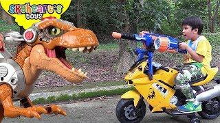 Dinosaurs Nerf War Part 2!