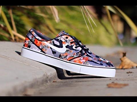Nike Janoski Floral Mandarin