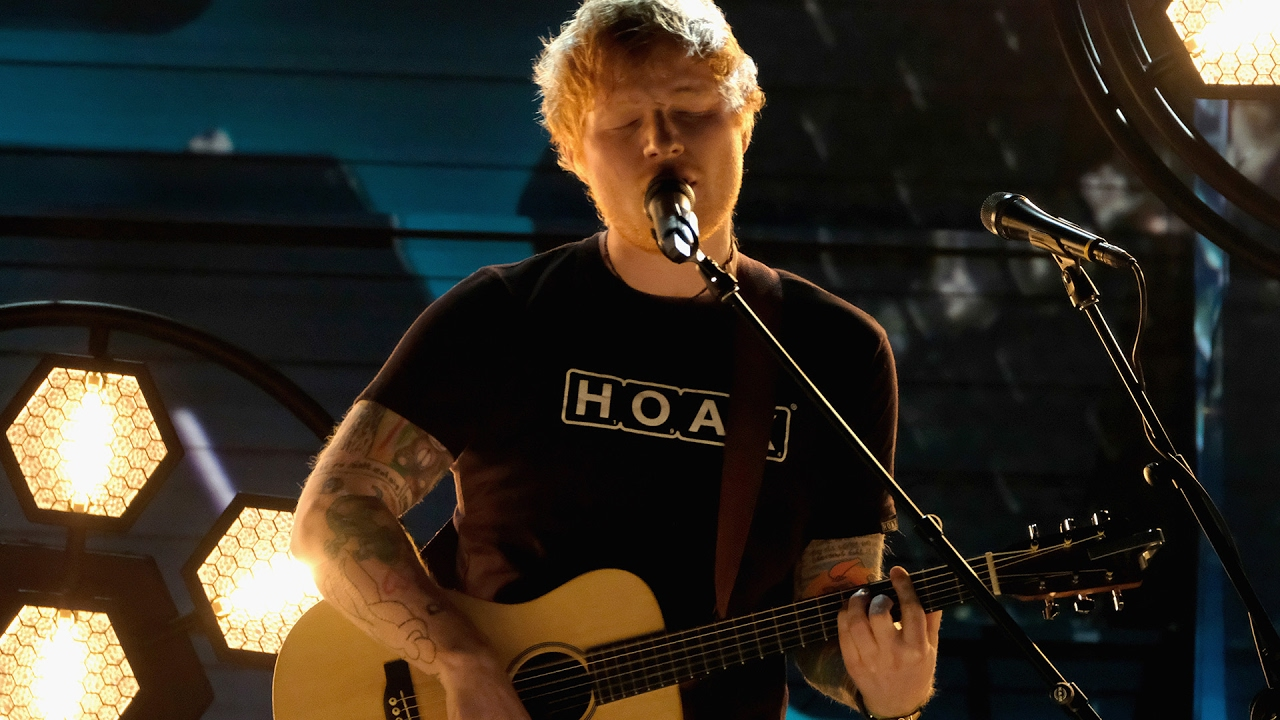 "Ed Sheeran Serenades Audience With ""Shape Of You"
