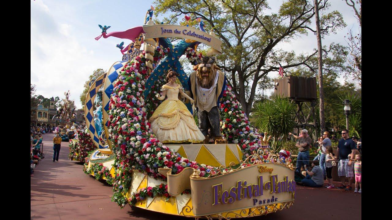 ... of Fantasy Parade - Disney World Magic Kingdom Jan. 2015 - YouTube