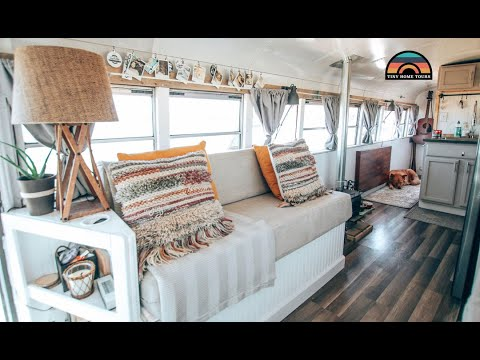 Couple Sells House & Builds A School Bus Conversion In 4 Months Costing Under $16k