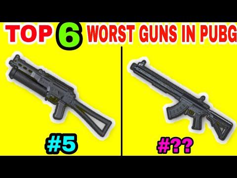 TOP 6 WORST GUNS IN PUBG MOBILE • PUBG MOBILE WORST GUNS