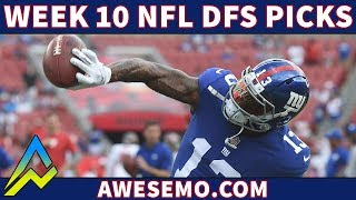 Top DFS Player & Evan Silva Give NFL Week 10 DraftKings and FanDuel Picks And Fades