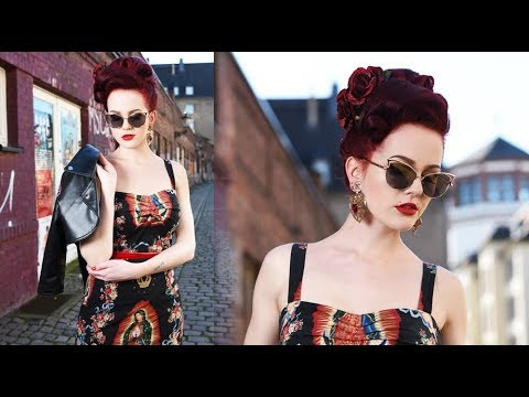 Super Easy Rockabilly Hair Tutorial Vintage Frisur Einfach Deutsch