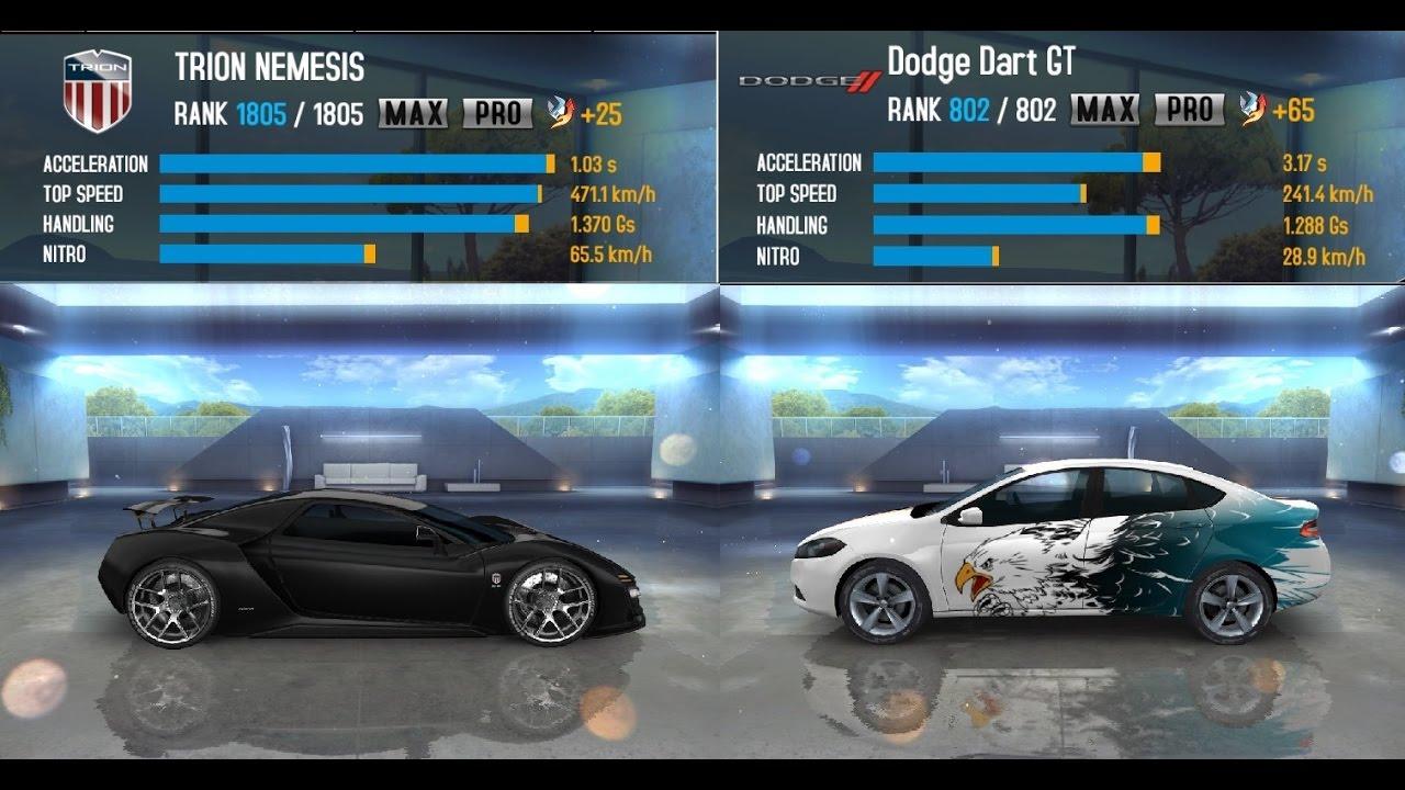 Asphalt 8 Airborne Trion Nemesis Vs Dodge Dart Gt Gameplay Pc
