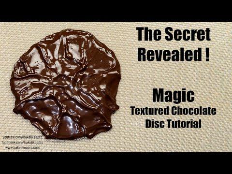 Magic Textured Chocolate Disc Tutorial
