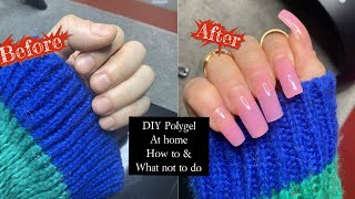 DIY POLYGEL NAILS AT HOME|UNBOXING AND REVIEW| AMAZON POLYGEL KIT