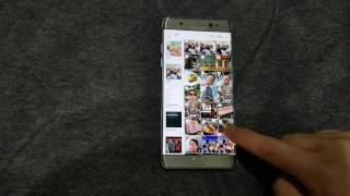 Galaxy Note7:媒體瀏覽器新功能-手指拖拉快速選擇多張照片
