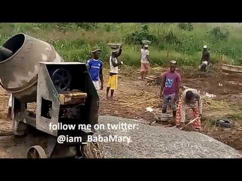 Concrete Mixing. Building Construction in Africa 1. Quantity Surveyor.
