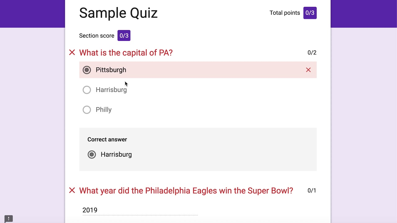 Creating a Quiz in Google Forms