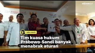 Tim kuasa hukum Prabowo-Sandi banyak menabrak aturan