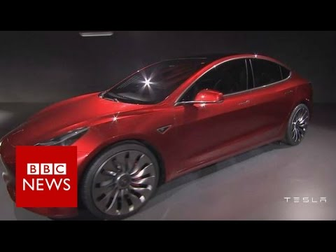 Tesla Reveals Affordable Model 3 Electric Car Bbc News