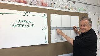 "BobBlast 243   ""How Bob Prepares Six Pieces of Watercolor Paper for his 10x10 inch Practice Warmups"""