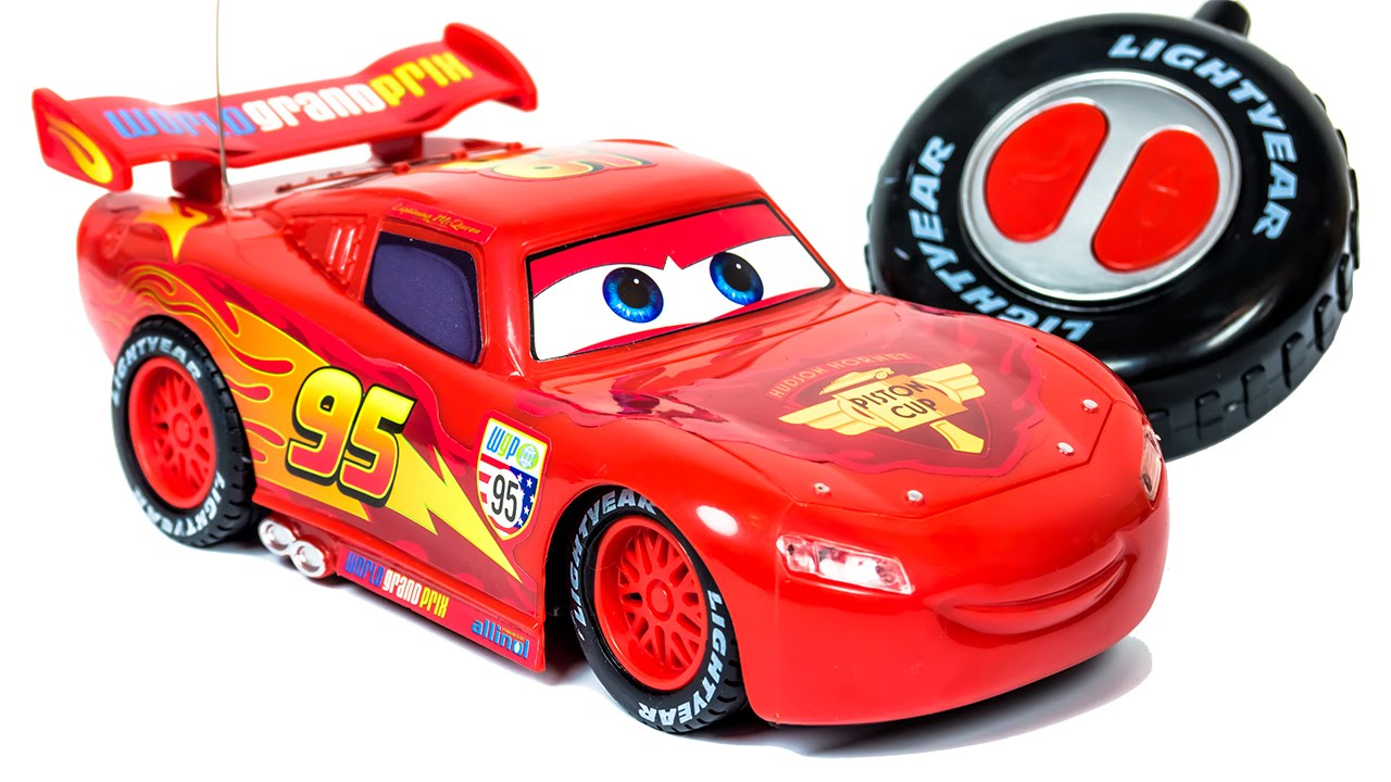 radio control model lightning mcqueen from cartoon cars toys video for children youtube