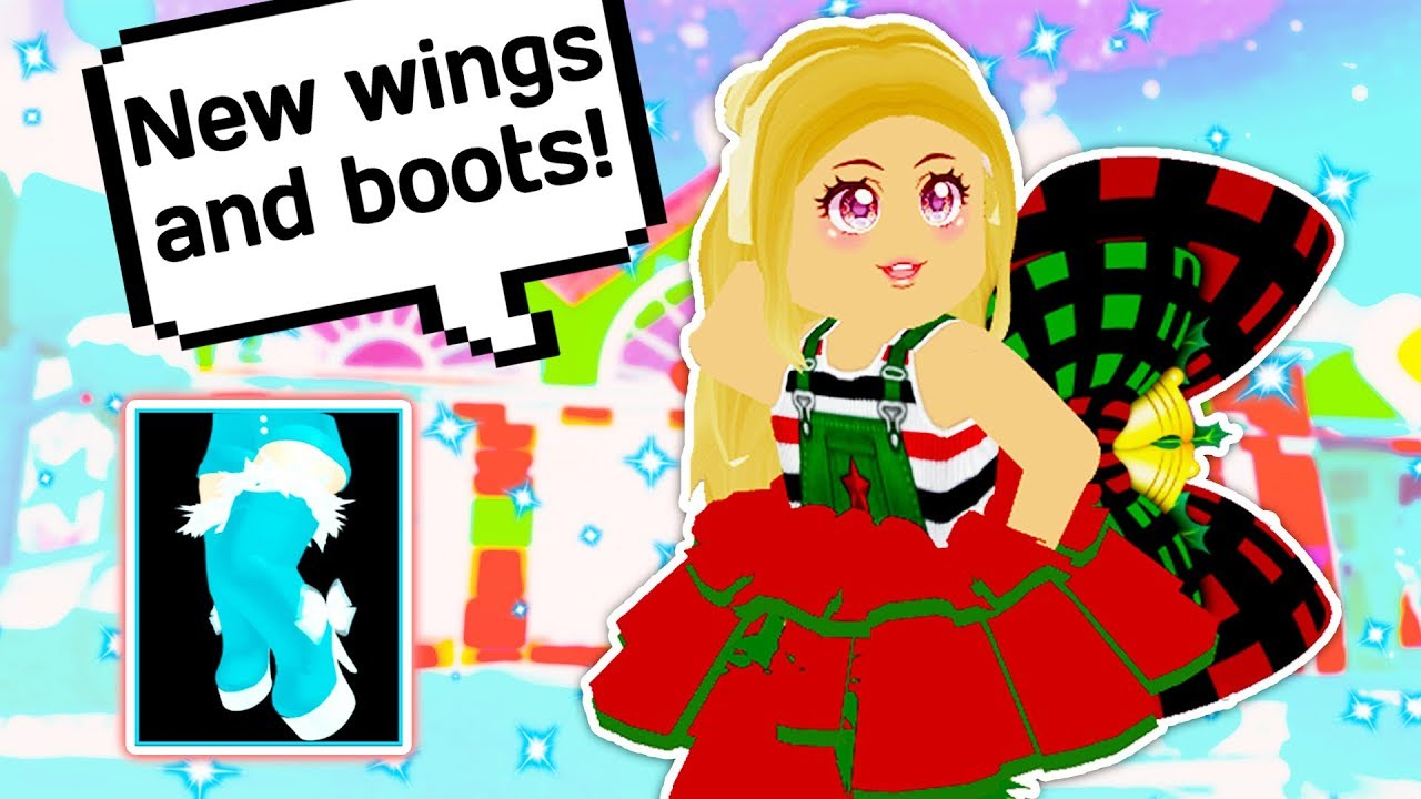 New Thigh High Boots And Wings Are Here Roblox Royale High School Winter Update - roblox royale high winter boots how to get free robux on