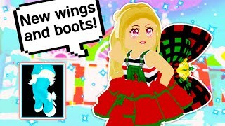 NEUE THIGH HIGH BOOTS UND WINGS SIND HIER 👑👗 / / Roblox Royale High School Winter Update